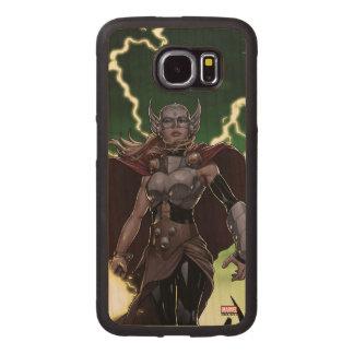 Thor Over Slain Enemies Wood Phone Case