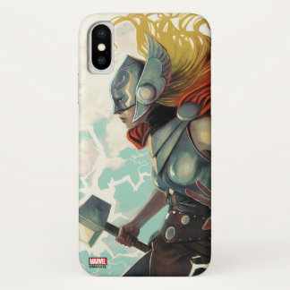 Thor Profile With Mjolnir iPhone X Case