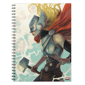 Thor Profile With Mjolnir Note Books