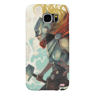Thor Profile With Mjolnir Samsung Galaxy S6 Cases