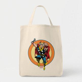 Thor Punch Attack Retro Graphic