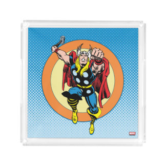 Thor Punch Attack Retro Graphic Acrylic Tray