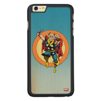 Thor Punch Attack Retro Graphic Carved Maple iPhone 6 Plus Case