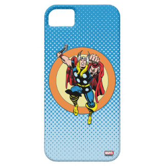 Thor Punch Attack Retro Graphic iPhone 5 Case