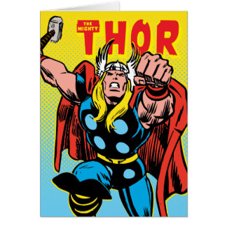 Thor Punching Attack Card