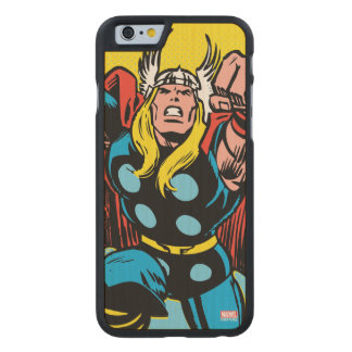 Thor Punching Attack Carved Maple iPhone 6 Case