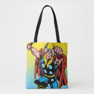 Thor Punching Attack Tote Bag