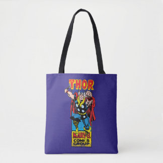 Thor Retro Comic Graphic Tote Bag