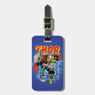 Thor Retro Comic Price Graphic Luggage Tag