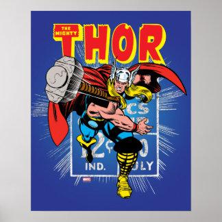 Thor Retro Comic Price Graphic Poster