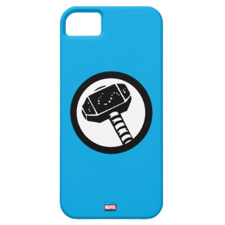 Thor Retro Hammer Icon iPhone 5 Covers