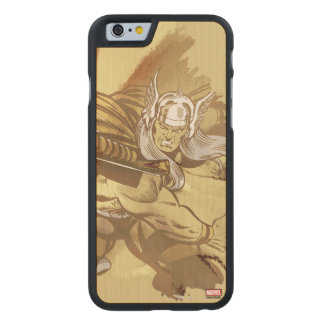 Thor Throwing Mjolnir Carved Maple iPhone 6 Case