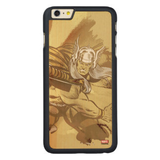 Thor Throwing Mjolnir Carved Maple iPhone 6 Plus Case