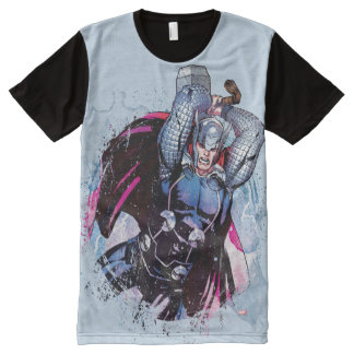 Thor Watercolor Character Graphic All-Over Print T-Shirt