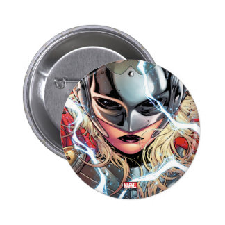 Thor With Lightning 6 Cm Round Badge
