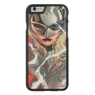 Thor With Lightning Carved Maple iPhone 6 Case