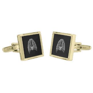 Thorax bones gold finish cufflinks