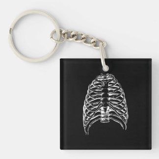 Thorax bones key ring