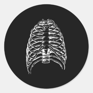 Thorax bones round sticker