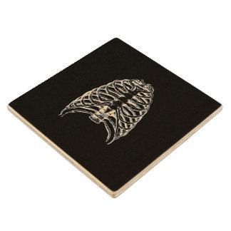 Thorax bones wood coaster