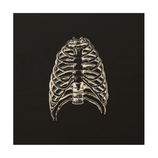 Thorax bones wood print