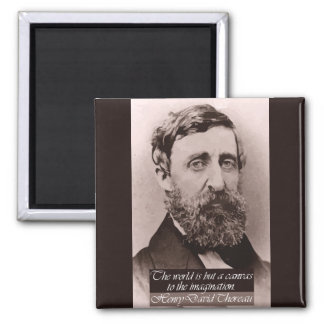 Thoreau '...canvas to the imagination' Quote Magnet