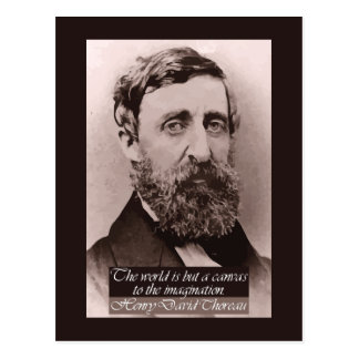 Thoreau '...canvas to the imagination' Quote Postcard