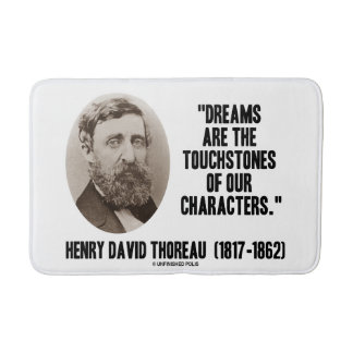 Thoreau Dreams Are Touchstones Of Our Characters Bath Mats