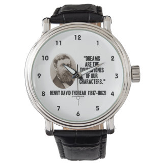 Thoreau Dreams Are Touchstones Of Our Characters Wristwatch
