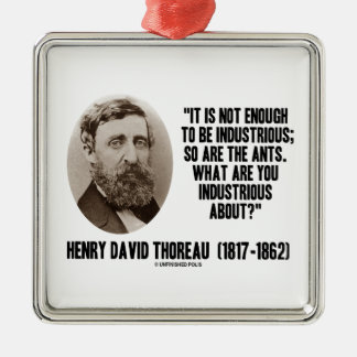 Thoreau Not Enough To Be Industrious So Are Ants Silver-Colored Square Decoration
