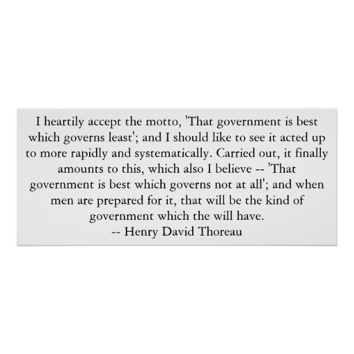 Thoreau on Government Poster