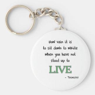 Thoreau on Writing Key Ring