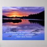 Thoreau quote and Big Bear Sunrise Posters