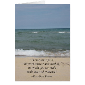 Thoreau Quote Beach Graduation Card