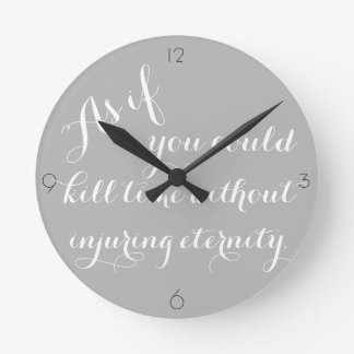 Thoreau Quote Clock