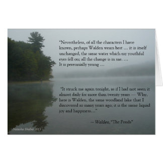 Thoreau quote greeting card