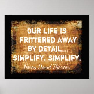 Thoreau Quote - Our Life -- Art Print