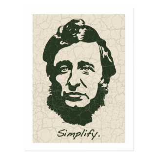 Thoreau - Simplify Postcard