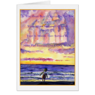 Thoreau's Sunset (Dark Text) Greeting Card