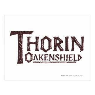 THORIN OAKENSHIELD™ Logo Brown Postcard