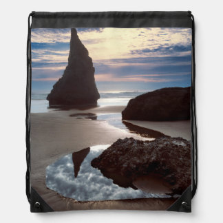 Thorn-Shaped seastack | Face Rock Wayside, OR Drawstring Bag