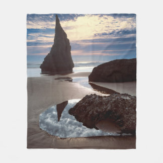 Thorn-Shaped seastack | Face Rock Wayside, OR Fleece Blanket