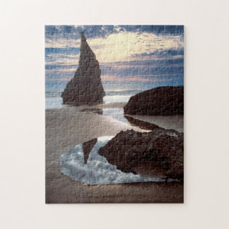 Thorn-Shaped seastack | Face Rock Wayside, OR Jigsaw Puzzle