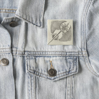 Thornback Skeleton 15 Cm Square Badge