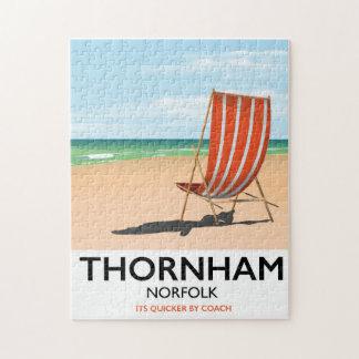 Thornham Norfolk seaside travel poster. Jigsaw Puzzle