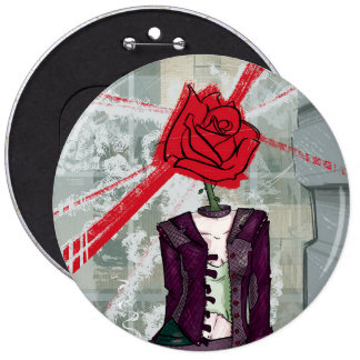 Thorns and Rose 6 Cm Round Badge