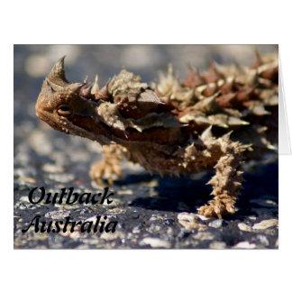 Thorny Devil Lizard, Outback Australia, Big Photo Card