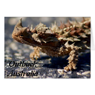 Thorny Devil Lizard, Outback Australia, Greeting Card