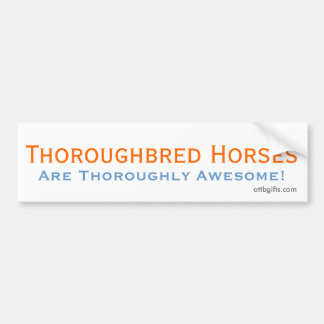 Thoroughbred Awesomeness! Bumper Sticker