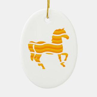 thoroughbred ceramic ornament